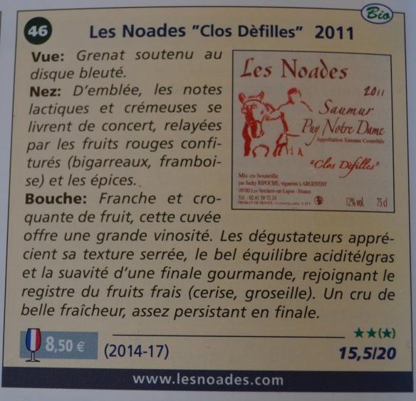 Les Noades en Vins et Terroirs Authentiques 2013-14